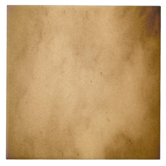 Vintage Brown Yellow Paper Parchment Background Large Square Tile