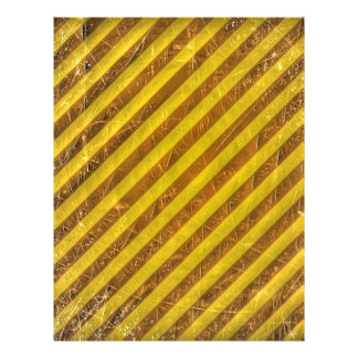 Vintage Brown Yellow Stripes Pattern Personalized Flyer