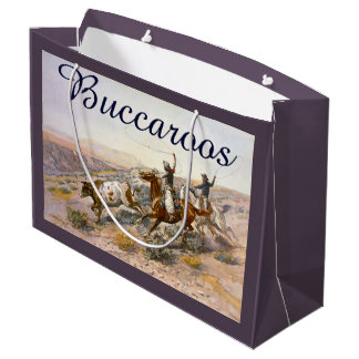 Vintage Buccaroos Charles Marion Russell Large Gift Bag