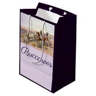 Vintage Buccaroos Charles Marion Russell Medium Gift Bag