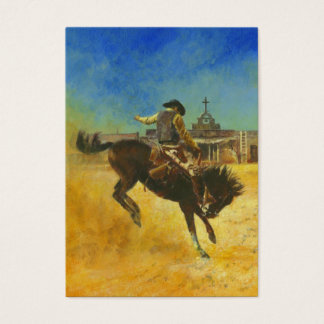Vintage Bucking Bronco ACEO Business Card