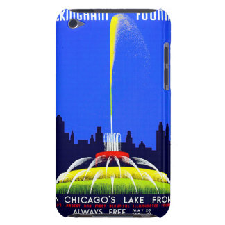 Vintage Buckingham Fountain WPA Poster Barely There iPod Case