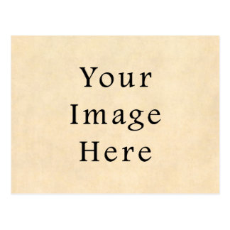 Vintage Buckskin Beige Parchment Paper Background Postcard