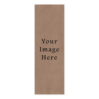 Vintage Buckskin Brown Parchment Paper Background Double-Sided Mini Business Cards (Pack Of 20)