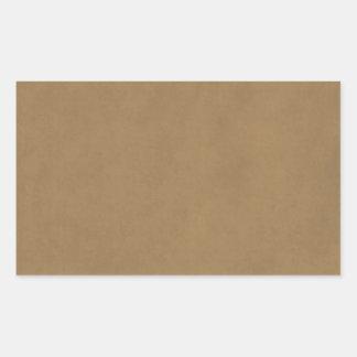 Vintage Buckskin Leather Brown Parchment Template Rectangular Sticker