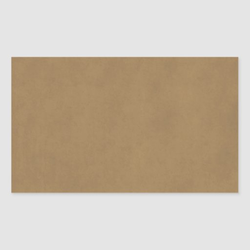 Vintage Buckskin Leather Brown Parchment Template Rectangle Stickers