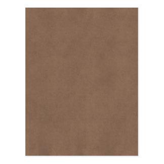 Vintage Buckskin Parchment Tan Brown Antique Paper Postcard