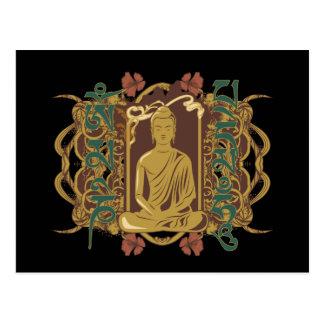 Vintage Buddha Mantra Postcard