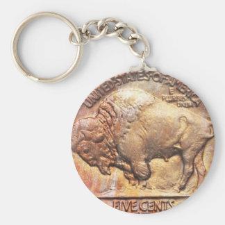 Vintage Buffalo Nickel Coin Collector Keychain