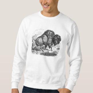 Vintage Buffalo Retro Bison Animal Illustration Sweatshirt