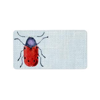 Vintage Bug Address Label