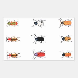 Vintage Bugs Rectangular Sticker