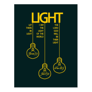 Vintage Bulbs Biblical Light Postcard