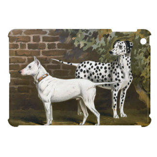 Vintage Bull Terrier and Dalmatian dog art Cover For The iPad Mini