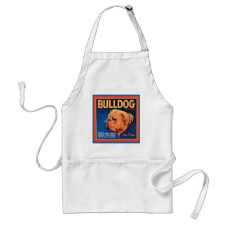 Vintage Bulldog Brand Crate Label Adult Apron