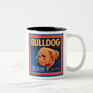 Vintage Bulldog Brand Crate Label Mug