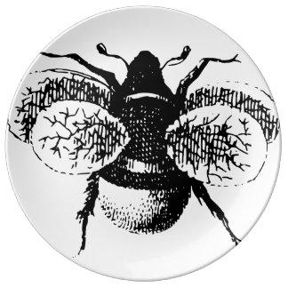 Vintage Bumble Bee Porcelain Plates