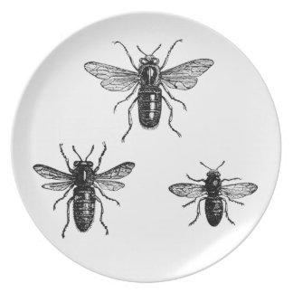 Vintage Bumblebees Dinner Plate