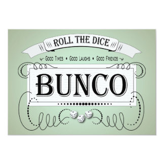 Vintage Bunco Dice Invitation
