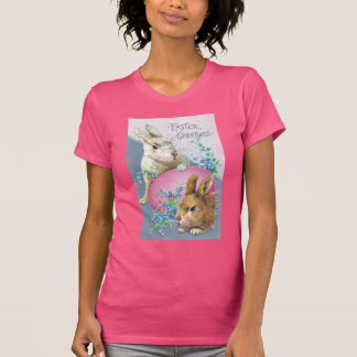 Vintage Bunnies and Giant Pink Egg T-Shirt