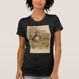 Vintage Bunny & Chicks Easter Card T-Shirt