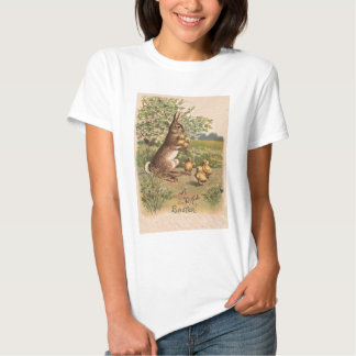 Vintage Bunny & Chicks Easter Card T Shirts