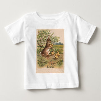 Vintage Bunny & Chicks Easter Card T-shirts
