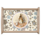 Vintage Bunny Easter Gift Serving Tray