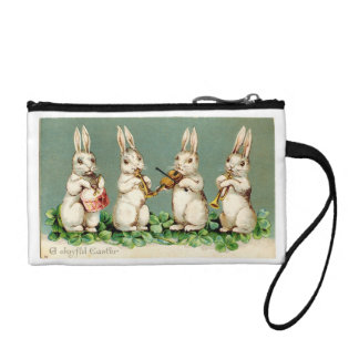 Vintage Bunny Musicians Change Purse