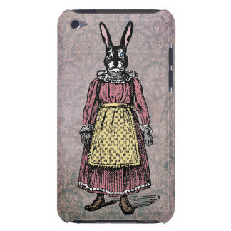 Vintage Bunny Rabbit in Dress w/Apron Illustration iPod Touch Case-Mate Case