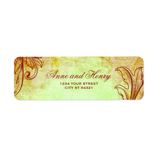 Vintage Burgundy Address Labels
