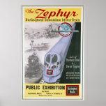 Vintage Burlington Zephyr Locomotive Poster