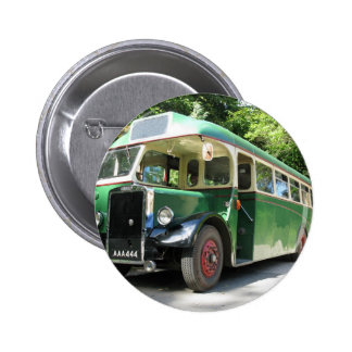 Vintage bus, 1940 transport , nostalgia image 6 cm round badge