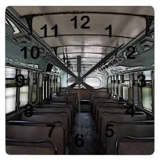vintage bus clock