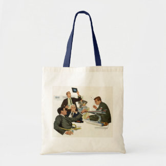 Vintage Business, Airline Executives in a Meeting Budget Tote Bag