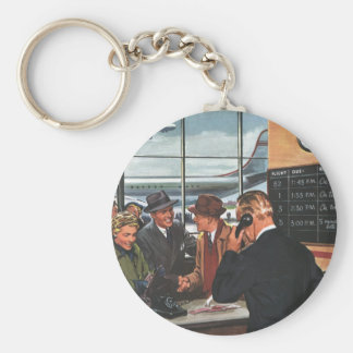 Vintage Business, Airline Ticket Counter Passenger Keychains