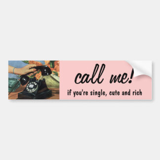Vintage Business, Antique Rotary Dial Telephone Bumper Sticker