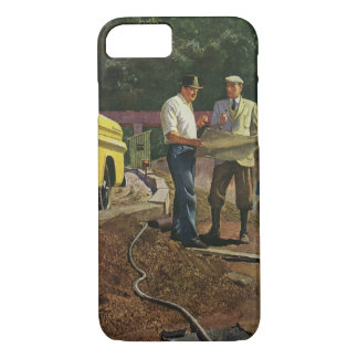 Vintage Business Architect Construction Contractor iPhone 7 Case