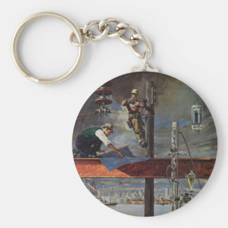 Vintage Business, Building and Construction Keychains