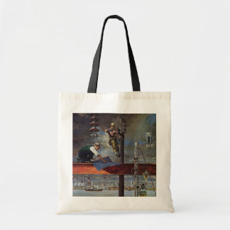 Vintage Business, Building and Construction Budget Tote Bag