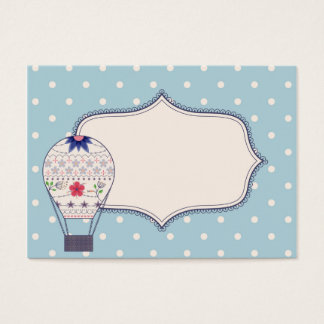 Vintage business crad for ballooning business card