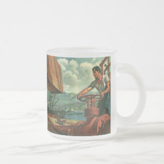 Vintage Business, Dock Worker Refueling a Ship Mugs