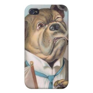 Vintage Business Dog 4  iPhone 4 Cases