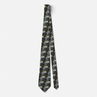 Vintage Business Electrician Working in Snow Storm Tie