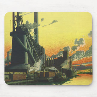 Vintage Business Factory, Manufacturing on a Dock Mouse Pad