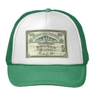 Vintage Business Finance Capital Stock Certificate Cap