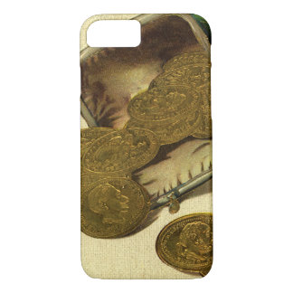 Vintage Business Finance Money, Gold Coin in Purse iPhone 7 Case