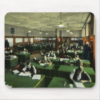 Vintage Business, Journalists in Newspaper Office Mouse Pad