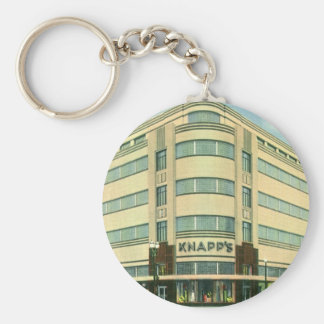 Vintage Business, Knapp's Department Store Basic Round Button Key Ring