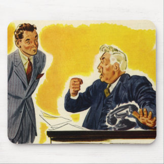 Vintage Business, Mad Executive CEO Boss Employee Mouse Pad